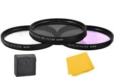 49mm Pro Series 3Pc Filter Kit For Canon EOS M5, M10 w/ EF-M 15-45mm Lens