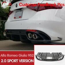 Carbon Rear Bumper Diffuser For 2017+ Alfa Romeo Giulia 952 Sport Version 2.0