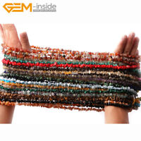 "5-8mm Freeform Gemstone Nugget Chips Loose Beads For Jewellery Making 34"" UK"