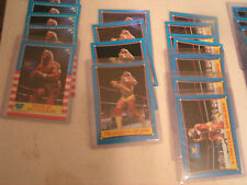 world wrestling federation 1987 70 card lot mixed excellent condition