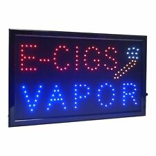 """Large E-Cigs Vapor Led Light Business Open Sign Chain Switch 21.5""""x13"""""""