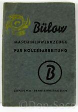 Katalog Bülow Maschinenwerkzeuge für Holzbearbeitung Leipzig W 33