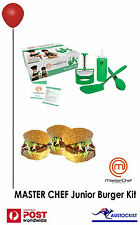 JUNIOR MASTERCHEF: Kids burger kit - Healthy homemade burgers - BNIB- 6 and over