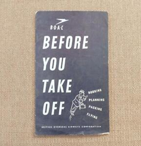 """BOAC, 1948:  """"BEFORE YOU TAKE OFF"""" BOOKLET - British Overseas Airways Corp"""
