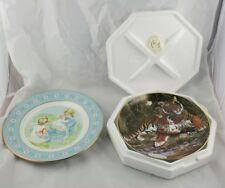 Lot Of 2 China Collector Plates 1974 Avon Tenderness Bengal Tiger Fleetwood k5p9