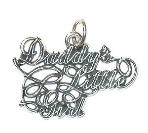 STERLING SILVER Word CHARM Family Relationship DADDY'S LITTLE GIRL