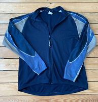 Louis Garneau Men's Full zip Long Sleeve Jacket Size L Blue Grey L2