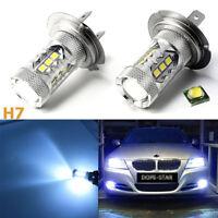 HID matching color H7 LED bulbs 8000K Ice Blue low beam DRL fog lights Headlight