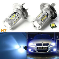 HID matching color H7 LED bulbs 8000K Ice Blue low beam DRL fog lights Headlight
