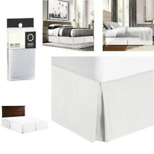 Pleated Bed Skirt King Size White 14 Inch Drop Luxury Microfiber Dust Ruffle