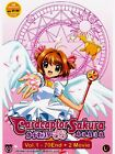 DVD CARDCAPTOR SAKURA VOL. 1-70 END + 2 MOVIE ENGLISH SUBTITLES ALL REGION
