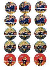 12 mini disque azyme cupcakes sam le pompier pour gateaux , enfant