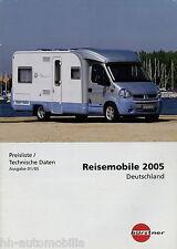 Preisliste Bürstner Reisemobile 2005 Preise Wohnmobil Delfin Elegance Star T-Mod
