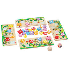 Flower Matching Game - Wooden Educational Toy - 3 Years+