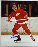 Alex Delvecchio Signed Detroit Red Wings 8x10 Photo Hall of Fame W/COA