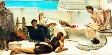 A Reading from Homer by Sir Lawrence Alma-Tadema  A1 Quality Canvas Art Print