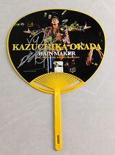 Rainmaker Kazuchika Okada Signed NJPW Official Autograph Fan BAS Champion Rare