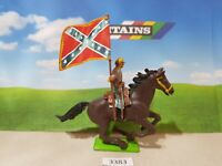 Britains ACW deetail Confederate cavalry standard bearer (lot 3383)