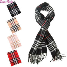 Men Women 100% CASHMERE Plaid Scarf Soft Warm Winter Scarves Scotland Made Gift