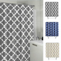 Waterproof Polyester Fabric Hotel Bathroom Shower Curtain Sheer Panel Decor USA