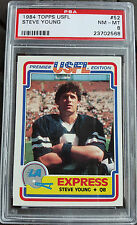 1984 TOPPS USFL #52 STEVE YOUNG ROOKIE PSA 8