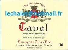 Authentique étiquette de TAVEL