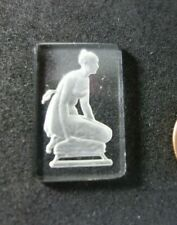 Vintage   Czech DECO figural  ART Glass  Cabochon Jewelry piece  ROMAN   Angel