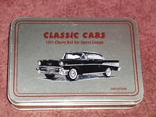 1957 CHEVY BEL AIR SPORT COUPE HEAVY DUTY POCKET KNIFE in GIFT TIN
