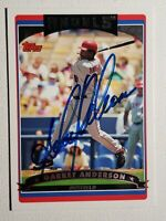 2006 Topps Garret Anderson Autograph Card Anaheim Angels Auto #215