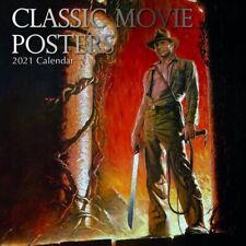 2021 Wall Calendar  Classic Movie Posters, 16-Month, with 180 Reminder Stickers