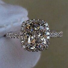 NSCD 3CTTW 2CT Simulated Diamond Cushion Cut Wedding Engagement Anniversary Ring