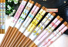 "Authentic Sanrio Characters 9"" Wood Chopsticks Japanese Chinese Bamboo Flatware"