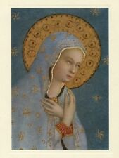 Catholic Art Card MADONNA OUR LADY OF PEACE Italian Renaissance museum card