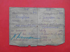 Occupation of UKRAINE 1943 Cement factory in KAMENSKOYE. Document ID for work