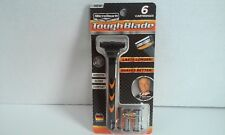 Micro Touch Tough Blade Triple Blade 6 Cartridges 6 Mnth of Shaving Men's Razor