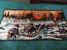 Vintage Alaska Dog Sled Iditarod Eskimo Velvety Tapestry Wall Hanging Rug preown