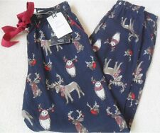 Fat Face Animals Antlers Print Comfort Waist Cotton Bottom PJ Pyjamas 6 8 18 Size 8