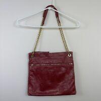 HOBO INTERNATIONAL Deep Carmine Red Leather Crossbody/Shoulder Purse Bag