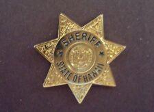 HAWAII SHERIFF  police mini badge HAT PIN LAPEL PIN