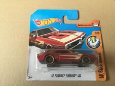 "DIE CAST "" '67 PONTIAC FIREBIRD 400 "" HOT WHEELS SCALA 1/64"
