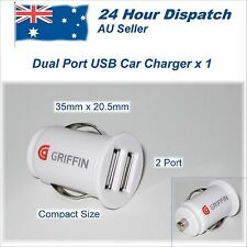 Compact 2 Port Griffin Mobile Phone Car Charger Adapter Lighter to USB 12 Volt B