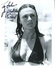 JACQUELINE BISSET HAND SIGNED 8x10 PHOTO+JSA      WET+SEXY ACTRESS     TO JOHN