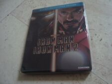 IRON MAN 1 & 2 Double Feature Blu-Ray RARE oop SteelBook MARVEL Robert Downey jr