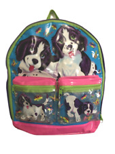 Vintage Lisa Frank Violet & Velvet puppies backpack