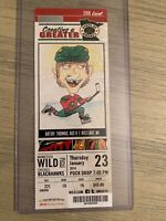 2013-14 Minnesota Wild NHL Official Mint Ticket Stubs - pick any game!