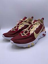Nike React Element 55 Florida State Seminoles FSU Red CK4838-600 Mens Size 11.5