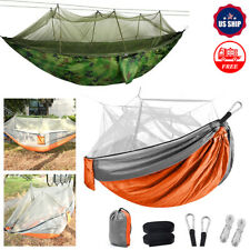 Outdoor Portable Double Camping Hammock with Mosquito Net Nylon Tent Hanging Bed