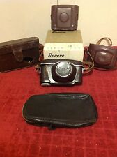Lot RARE Vintage Leather Camera Cases Tanack Revere Flash Utilo Beacon Lens Box