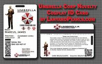 Resident Evil Umbrella Corporation Corp Cosplay ID - FULLY CUSTOMISABLE