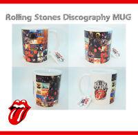 Rolling Stones Discography Mug - Gift Cup - Mick Jagger Keith Richards Guitar